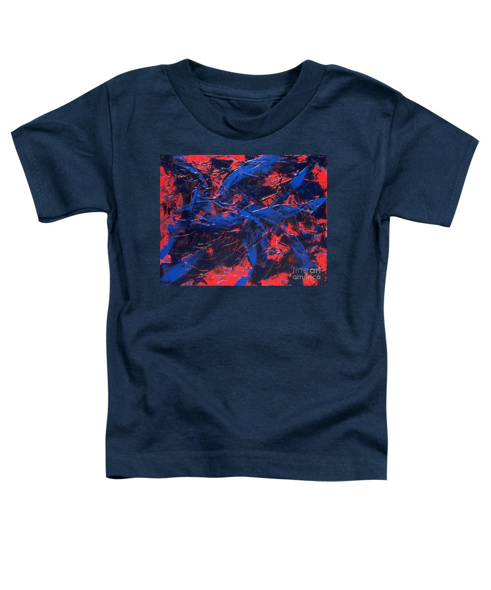 Abstract Toddler T-Shirt featuring the painting Transitions Iv by Dean Triolo