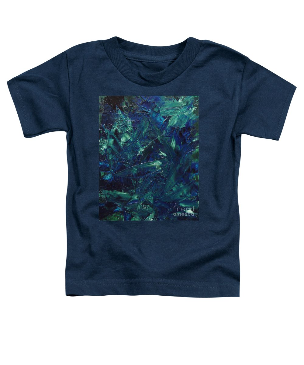 Abstract Toddler T-Shirt featuring the painting Transtions Xi by Dean Triolo