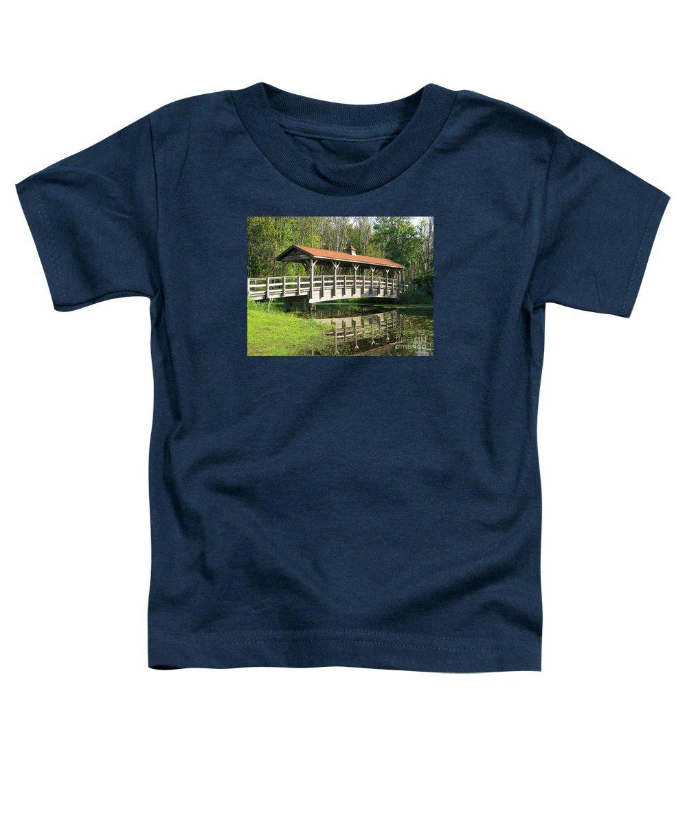 Bridge Toddler T-Shirt featuring the photograph Wetland Footbridge by Ann Horn