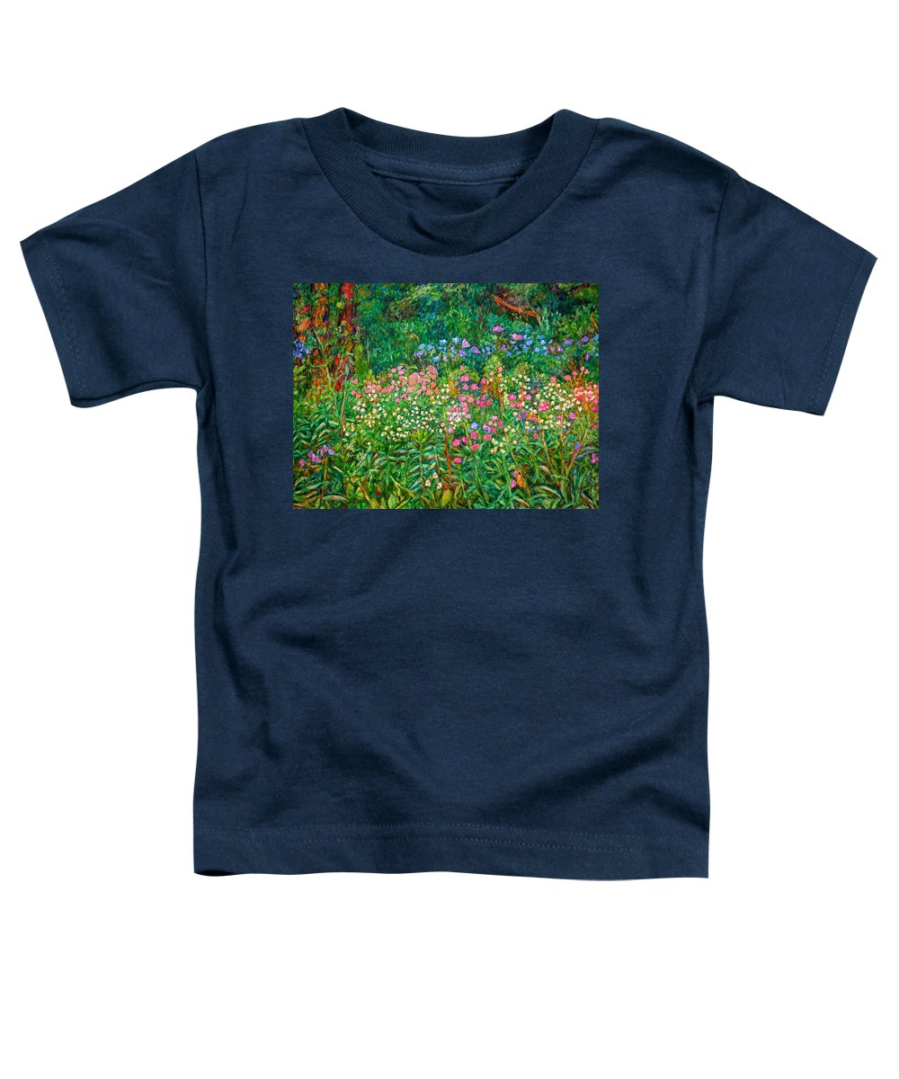 Floral Toddler T-Shirt featuring the painting Wildflowers Near Fancy Gap by Kendall Kessler