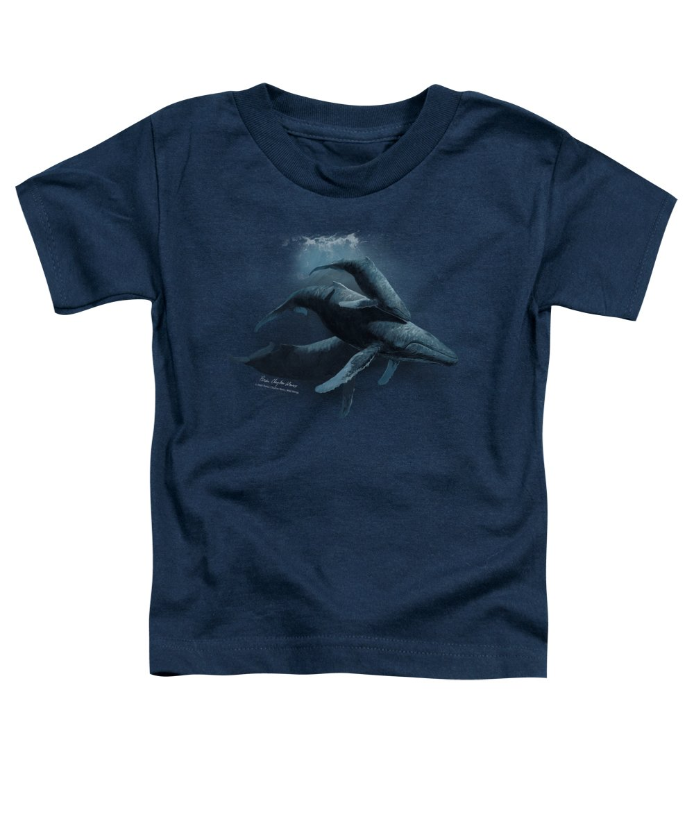 Wildlife Toddler T-Shirt featuring the digital art Wildlife - Powerandgrace by Brand A