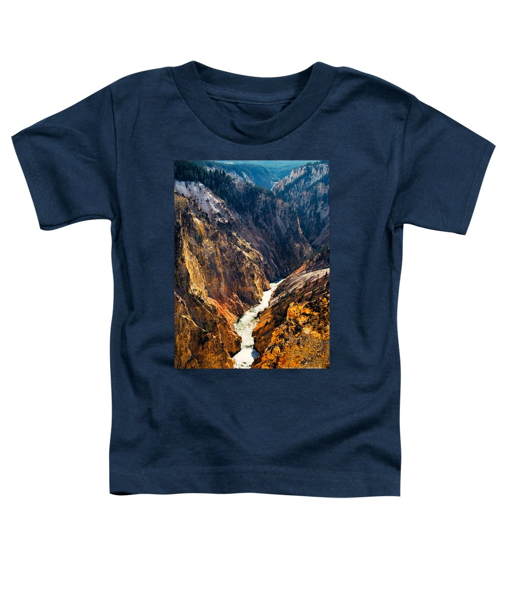 Yellowstone Toddler T-Shirt featuring the photograph Yellowstone River by Kathy McClure