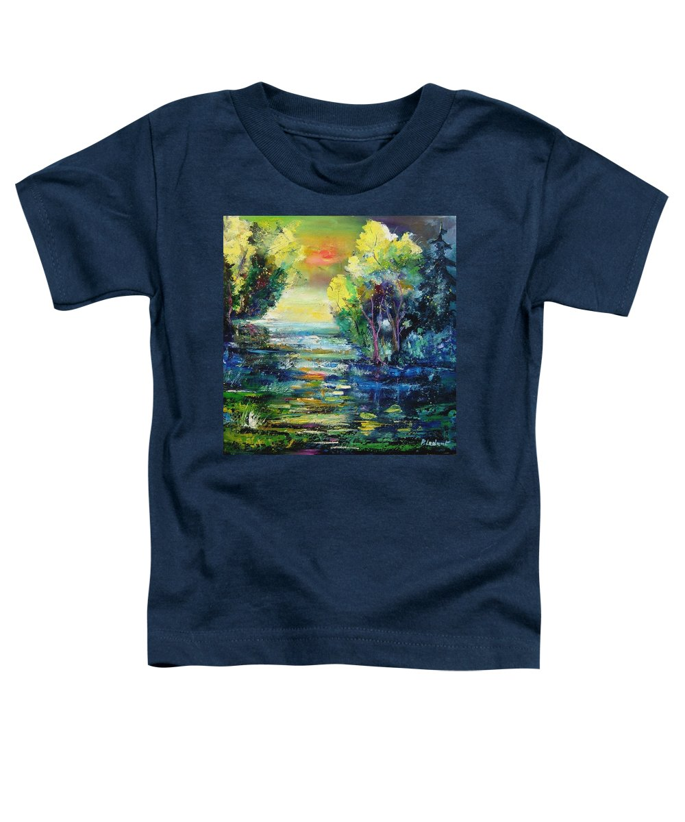 Pond Toddler T-Shirt featuring the painting Magic Pond by Pol Ledent