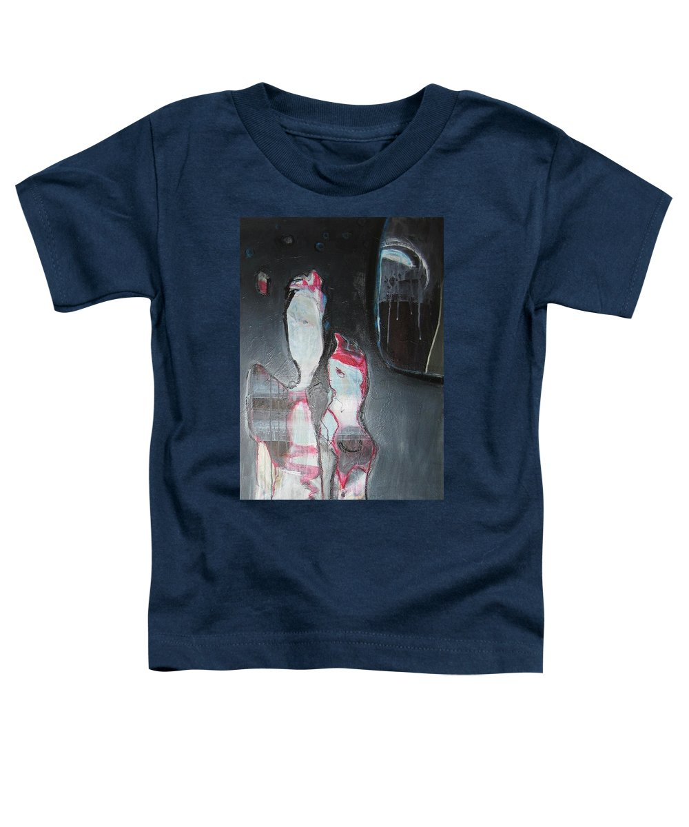 Abstract Paintings Toddler T-Shirt featuring the painting A Flase Rumor by Seon-Jeong Kim