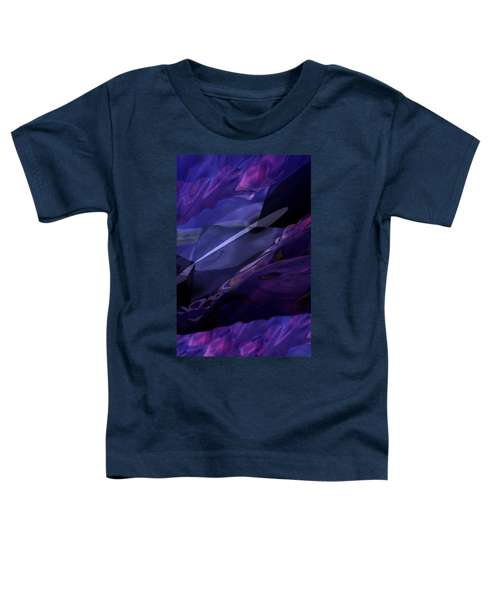 Abstract Toddler T-Shirt featuring the digital art Abstractbr6-1 by David Lane
