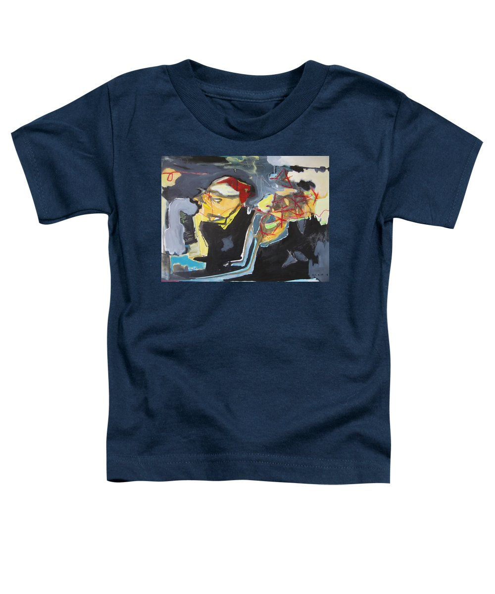 Abstract Paintings Toddler T-Shirt featuring the painting Alexander Trail by Seon-Jeong Kim