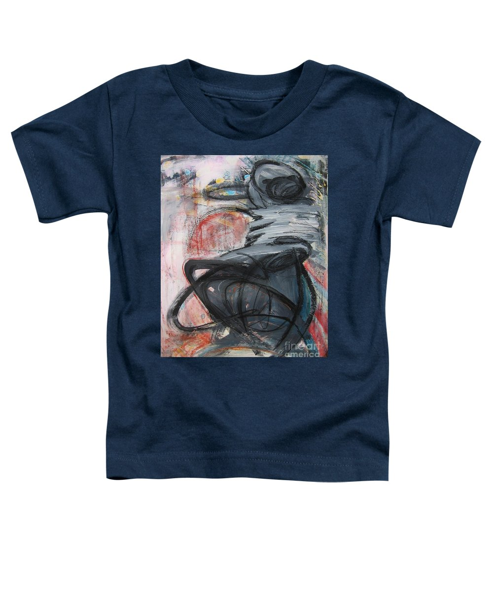 Abstract Paintings Paintings Toddler T-Shirt featuring the painting All Alone by Seon-Jeong Kim