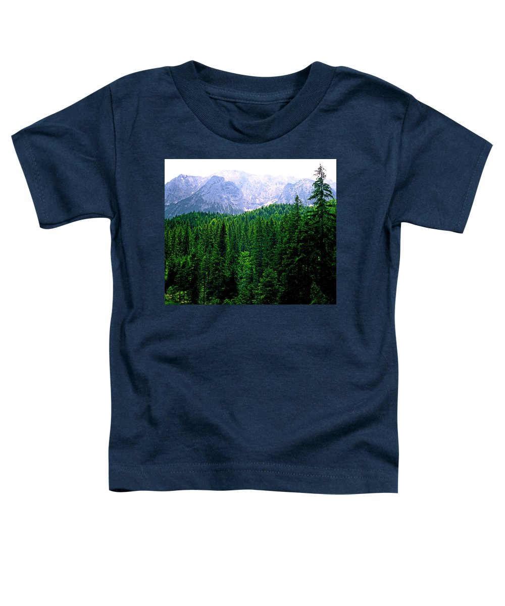 Bavaria Toddler T-Shirt featuring the photograph Alpine Forest by Kevin Smith