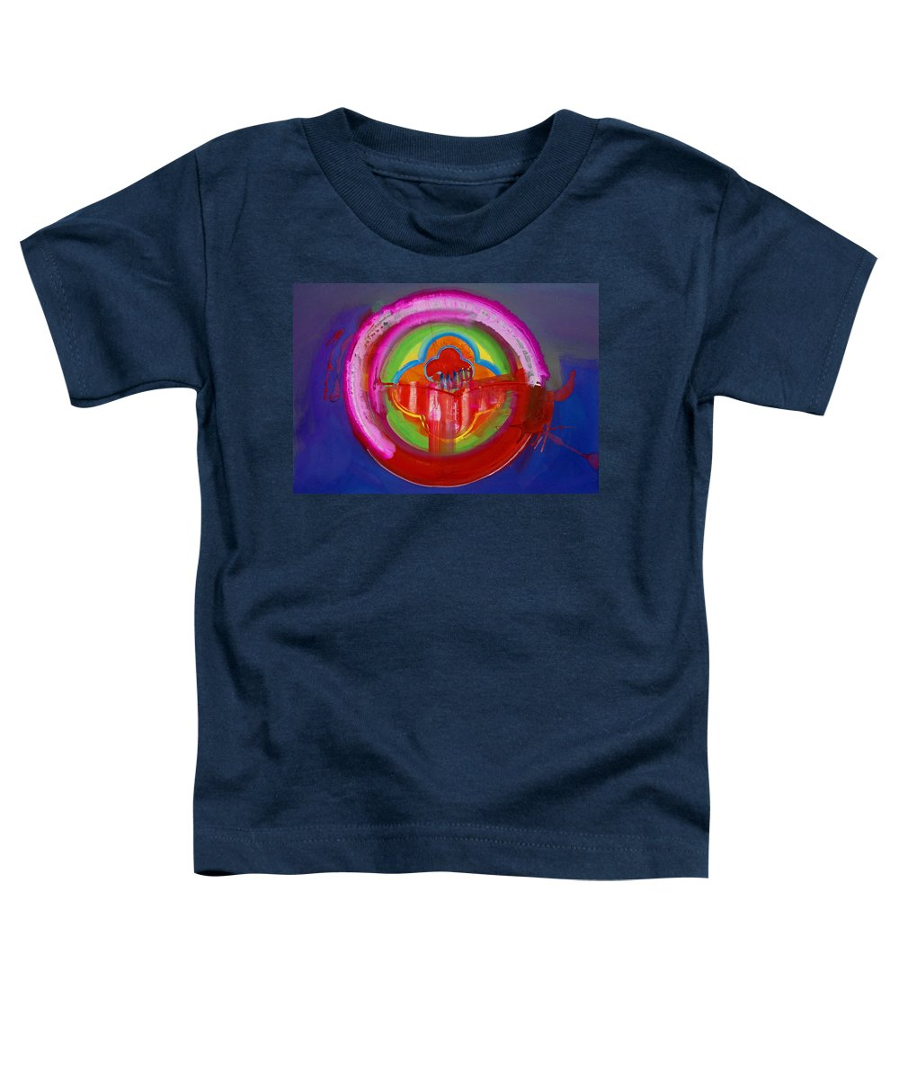 Button Toddler T-Shirt featuring the painting American Evangelical by Charles Stuart