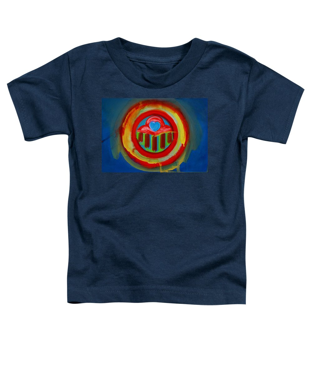 Button Toddler T-Shirt featuring the painting American Love Button by Charles Stuart