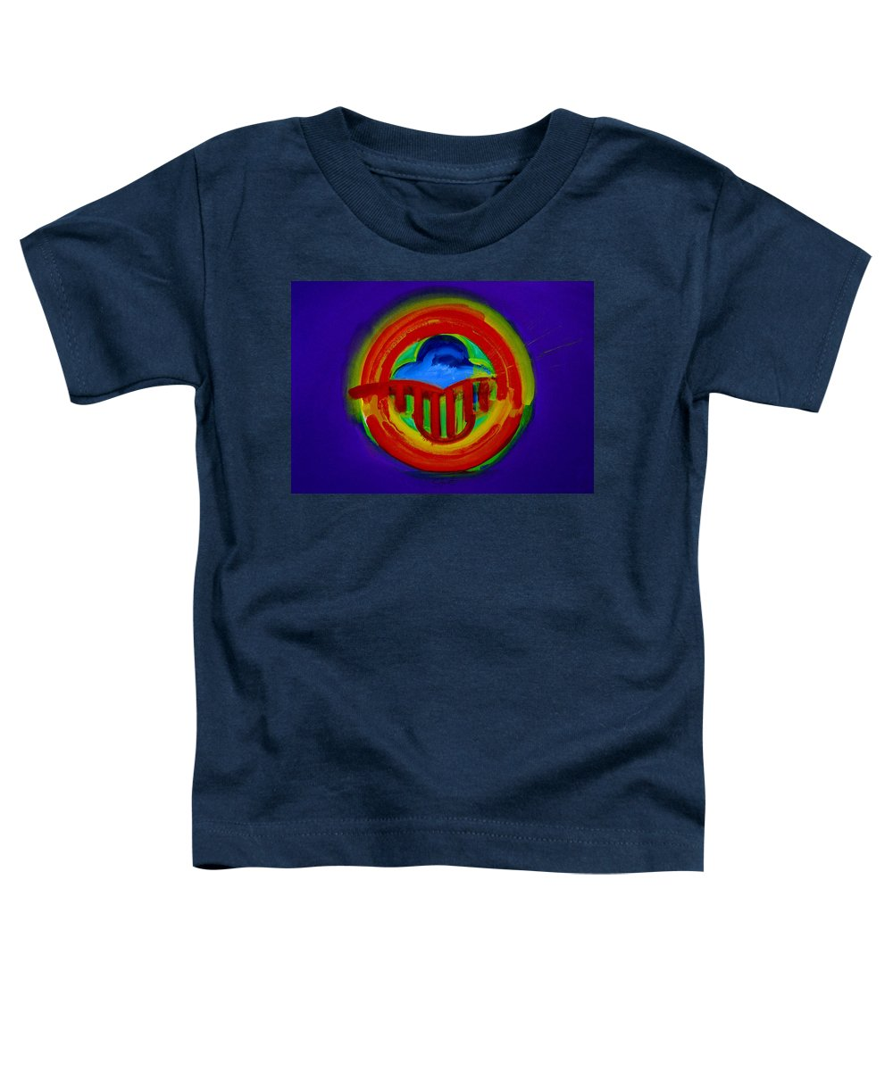 Button Toddler T-Shirt featuring the painting American Power Button by Charles Stuart