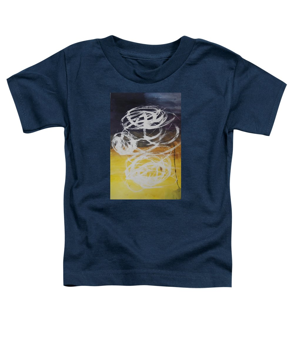 Learning Toddler T-Shirt featuring the painting Aprendiendo by Lauren Luna