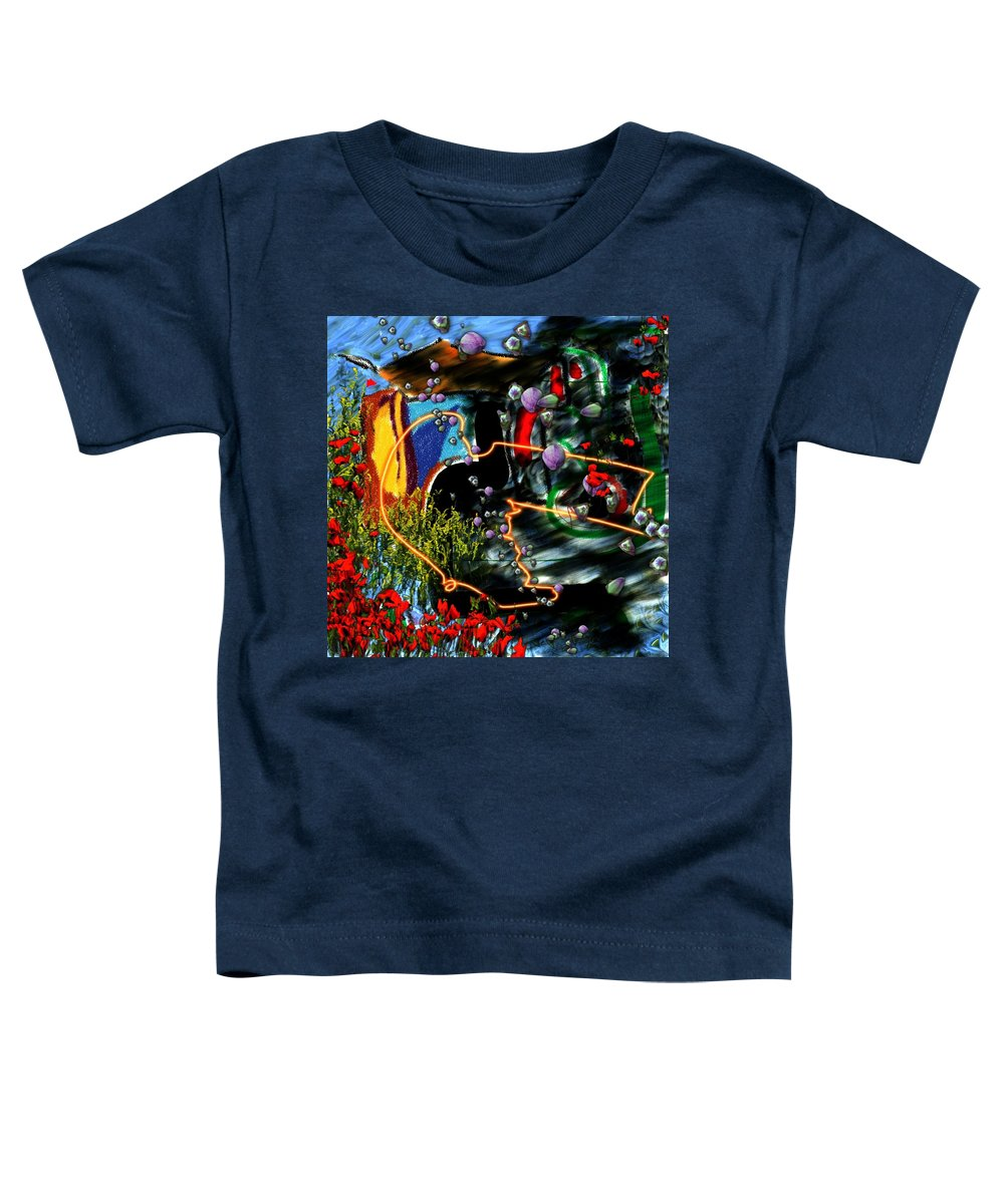 Ocean Water Deep Sea Nature Salad Toddler T-Shirt featuring the digital art Aquatic Salad by Veronica Jackson