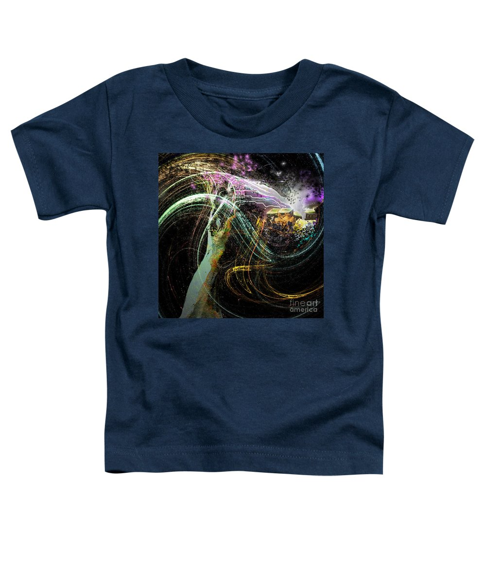 Fantasy Toddler T-Shirt featuring the painting At The End Of The Cosmos by Miki De Goodaboom