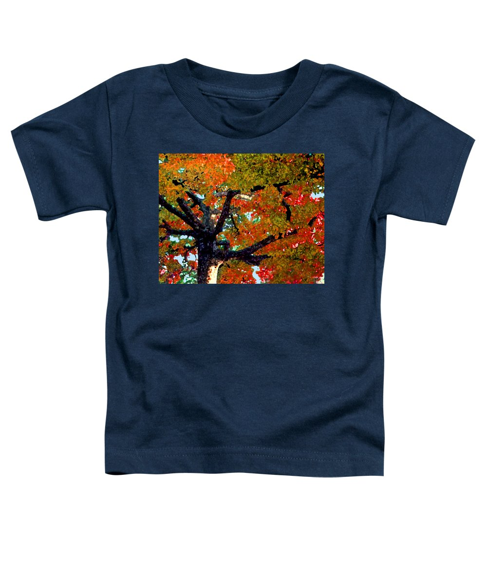 Fall Toddler T-Shirt featuring the photograph Autumn Tree by Steve Karol