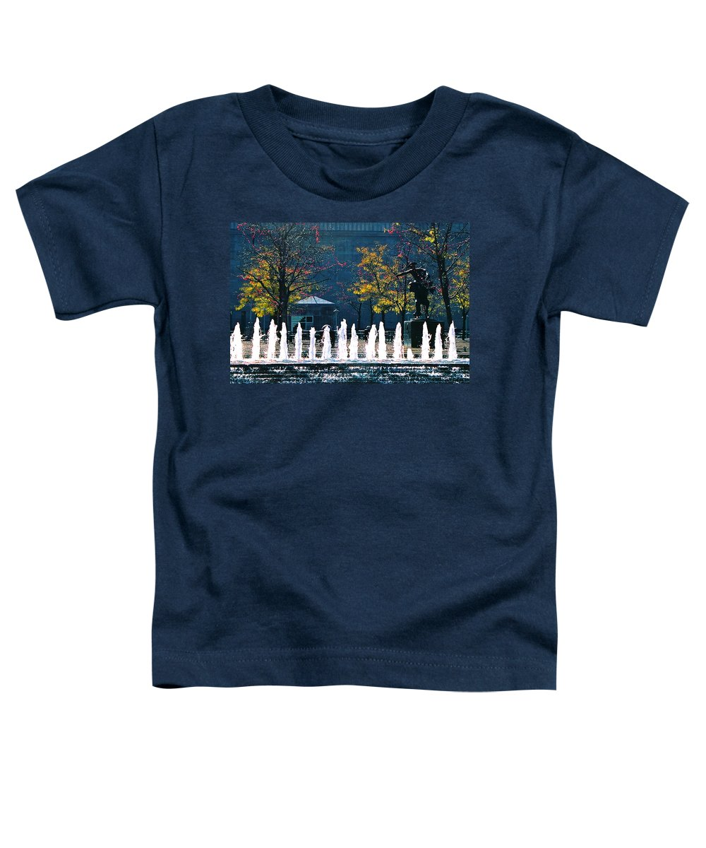 Landscape Toddler T-Shirt featuring the photograph Barney Allis Plaza-kansas City by Steve Karol