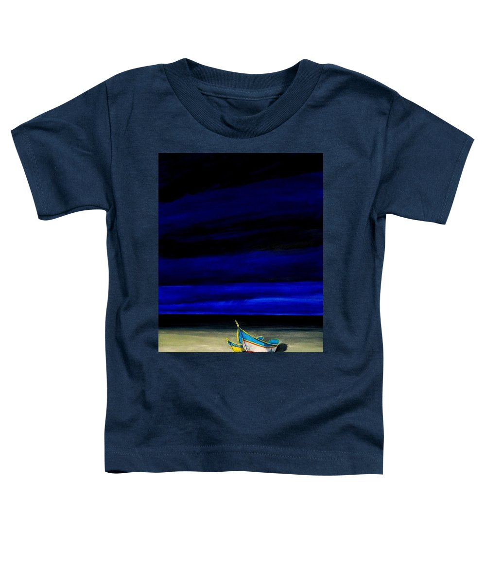 Landscape Painting Toddler T-Shirt featuring the painting Beached by Edith Peterson-Watson