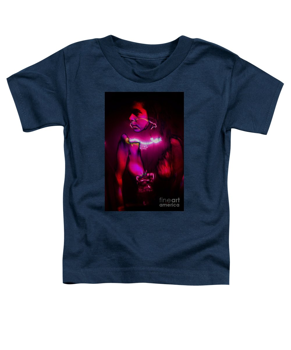 Clay Toddler T-Shirt featuring the pyrography Black Light Passion by Clayton Bruster