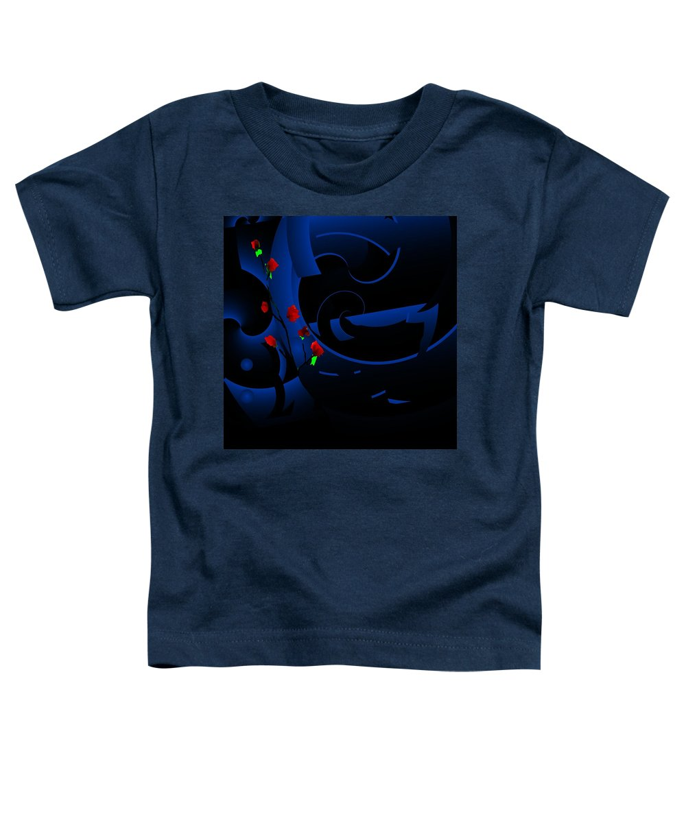 Abstract Toddler T-Shirt featuring the digital art Blue Abstract by David Lane