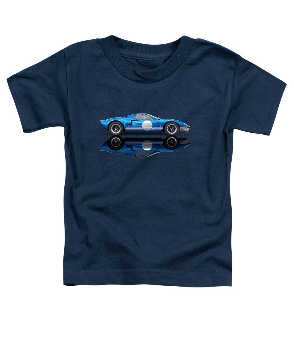 Ford Gt40 Toddler T-Shirt featuring the photograph Blue Reflections - Ford Gt40 by Gill Billington