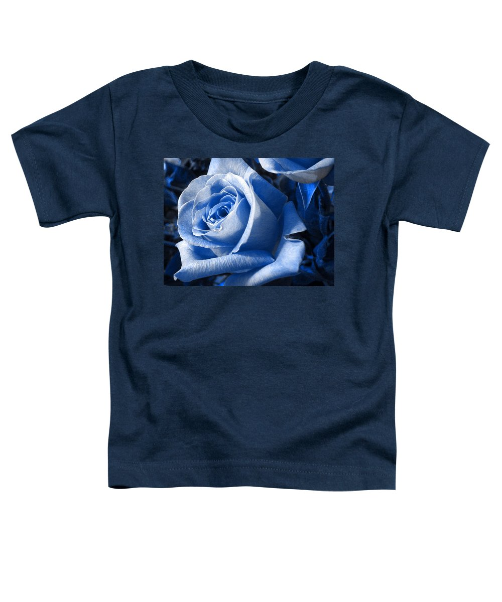 Blue Toddler T-Shirt featuring the photograph Blue Rose by Shelley Jones