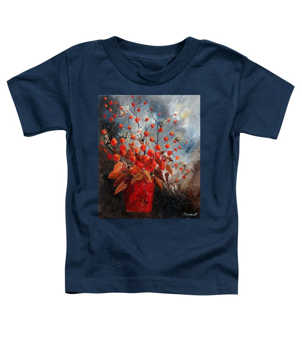 Flowers Toddler T-Shirt featuring the painting Bunch 560608 by Pol Ledent