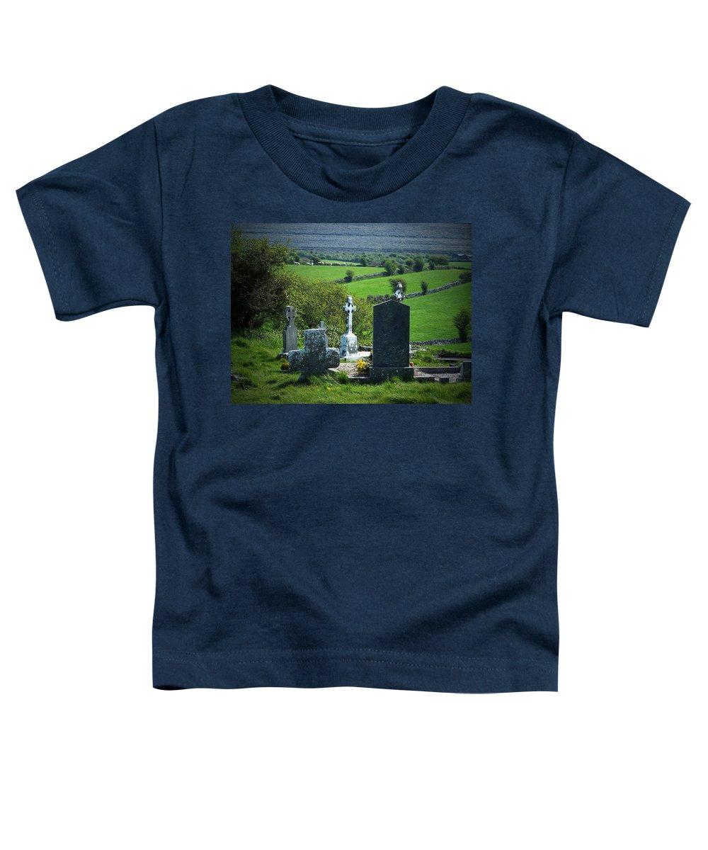 Irish Toddler T-Shirt featuring the photograph Burren Crosses County Clare Ireland by Teresa Mucha