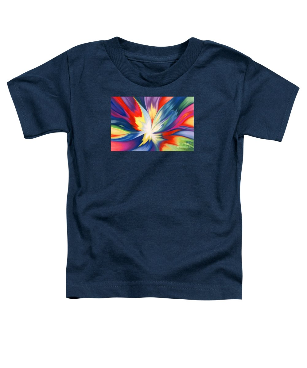 Abstract Toddler T-Shirt featuring the painting Burst Of Joy by Lucy Arnold