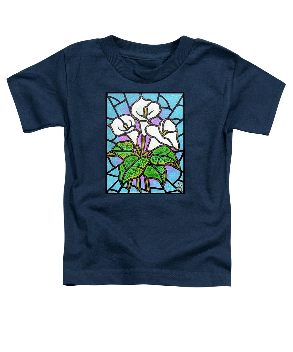 Flowers Toddler T-Shirt featuring the painting Calla Lilies 3 by Jim Harris