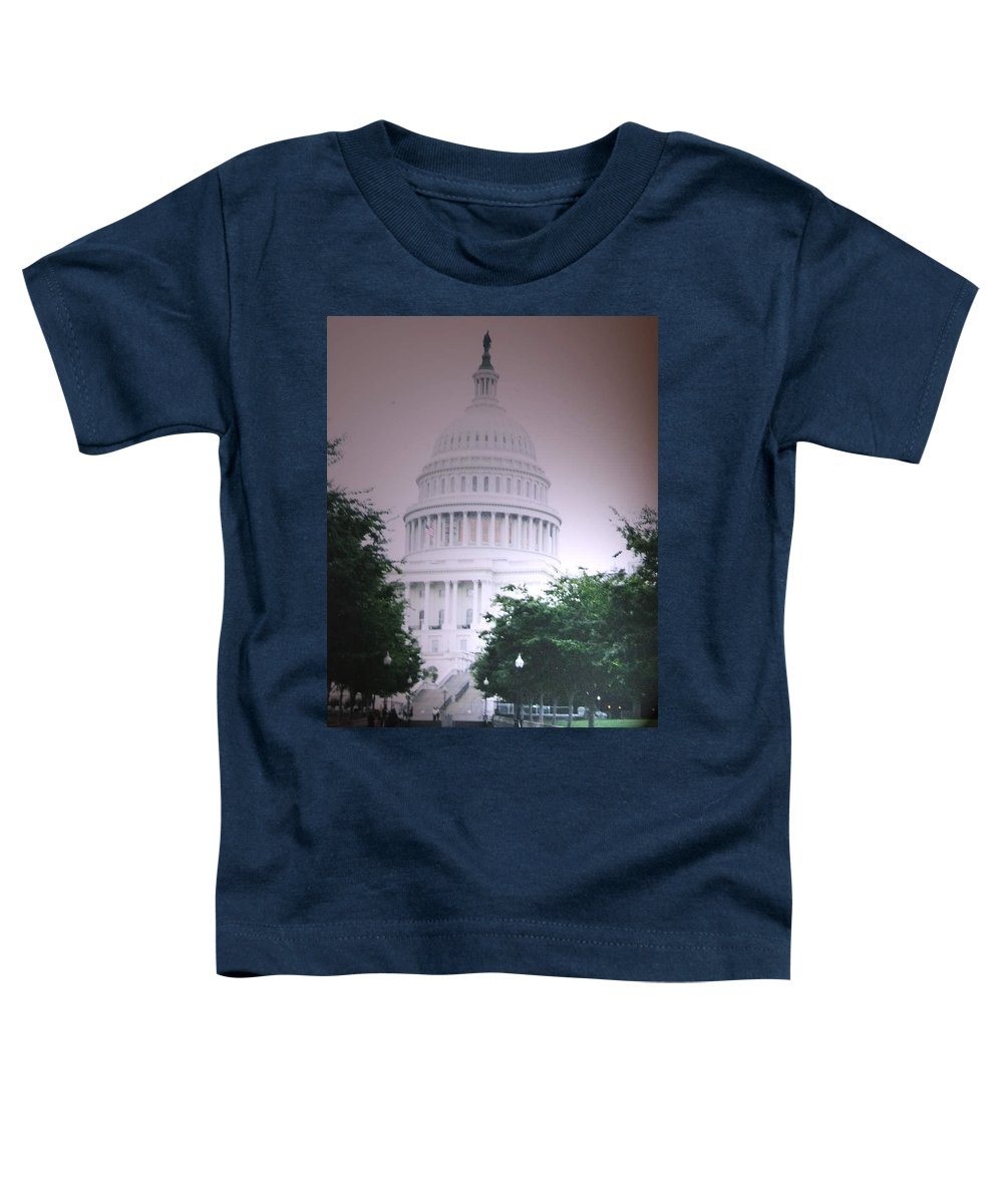 Capitol Toddler T-Shirt featuring the photograph Capitol In Pink by Pharris Art