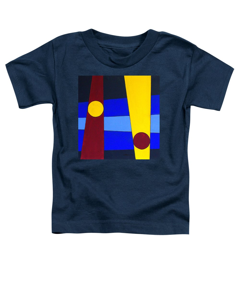 Abstract Toddler T-Shirt featuring the painting Circles Lines Color by J R Seymour