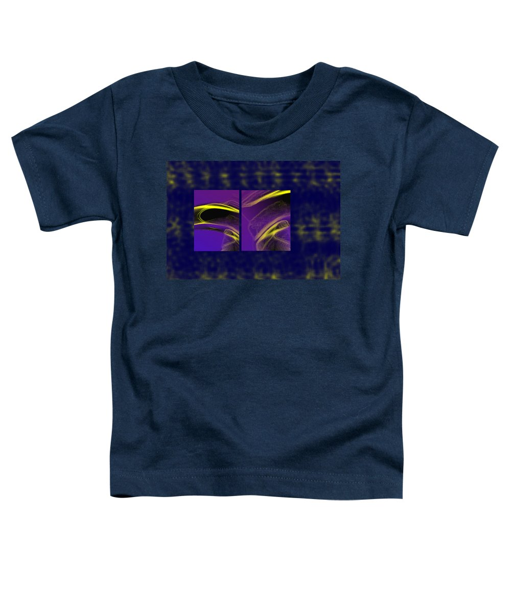 Abstract Toddler T-Shirt featuring the digital art Cobra by Steve Karol
