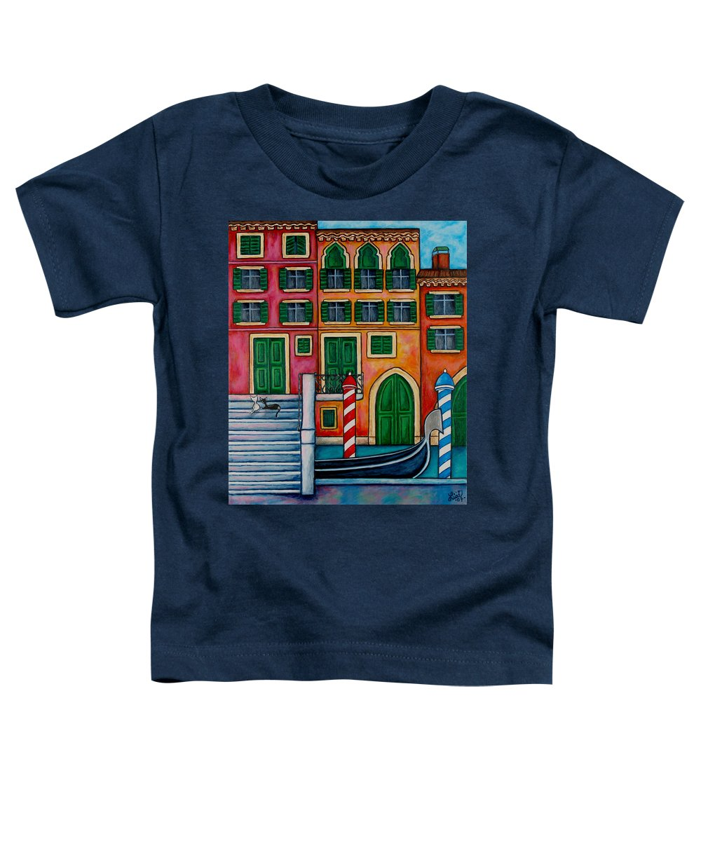 Venice Toddler T-Shirt featuring the painting Colours Of Venice by Lisa Lorenz