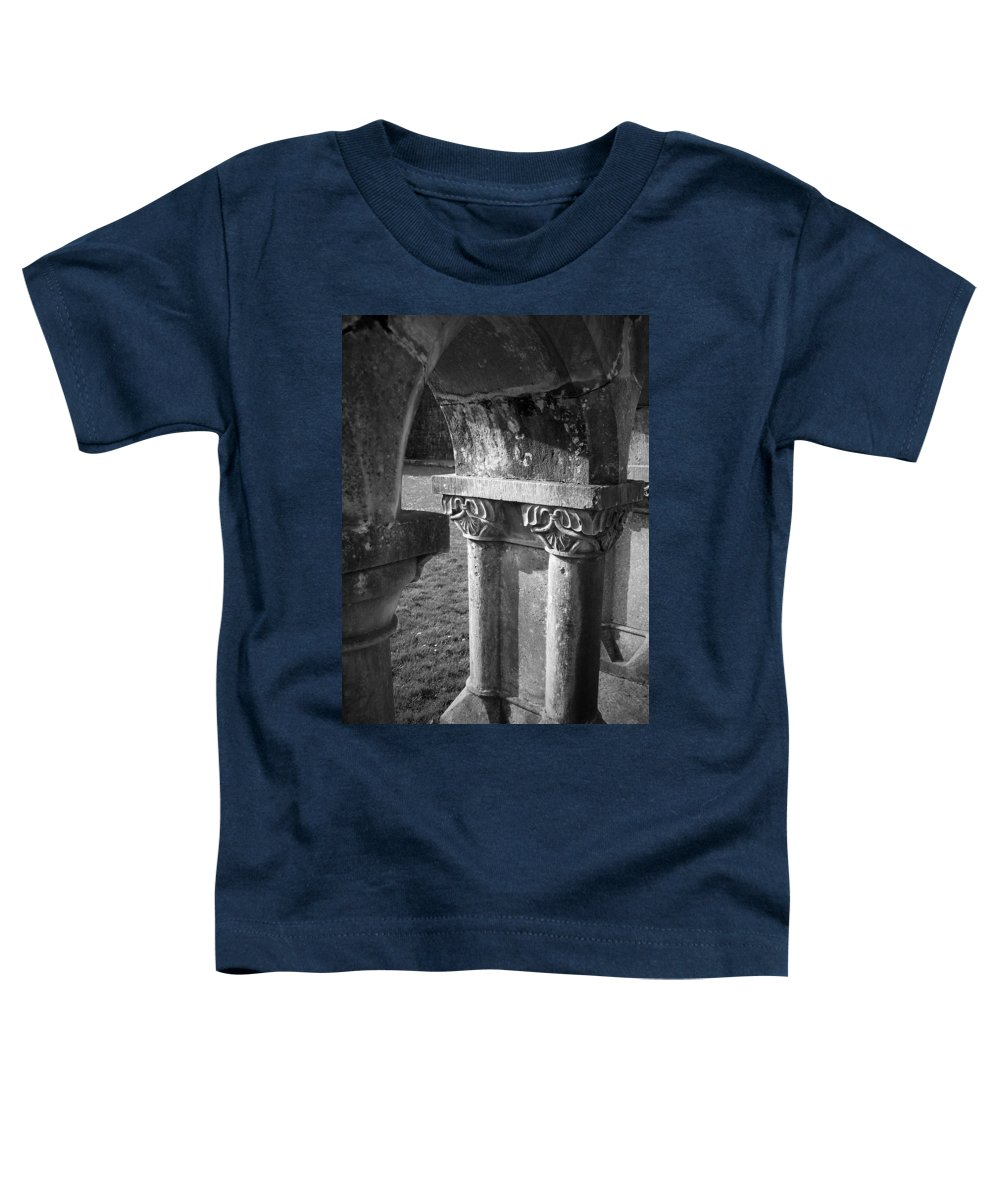 Irish Toddler T-Shirt featuring the photograph Detail Of Cloister At Cong Abbey Cong Ireland by Teresa Mucha