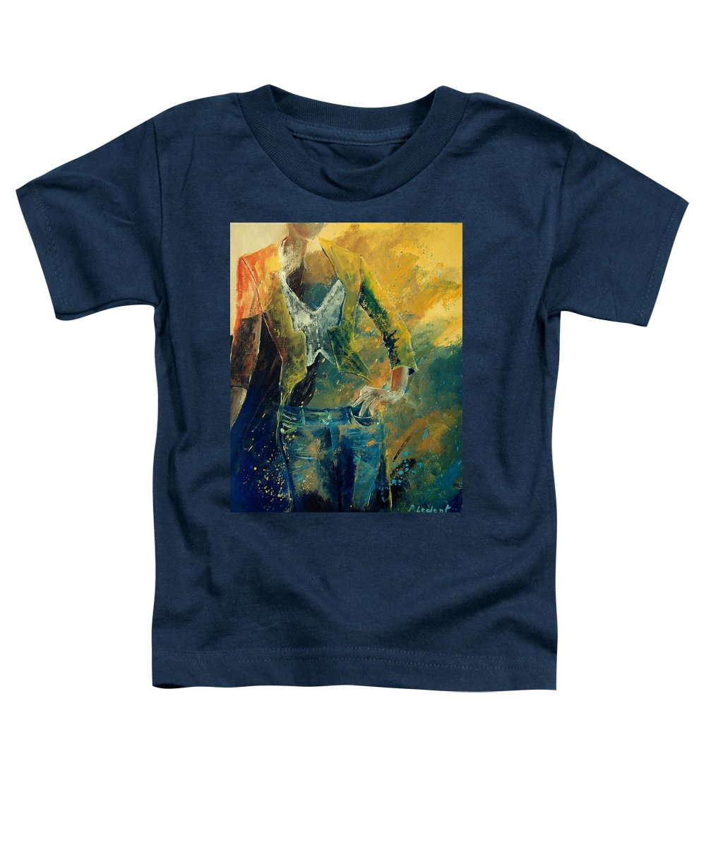 Woman Girl Fashion Toddler T-Shirt featuring the painting Dinner Jacket by Pol Ledent