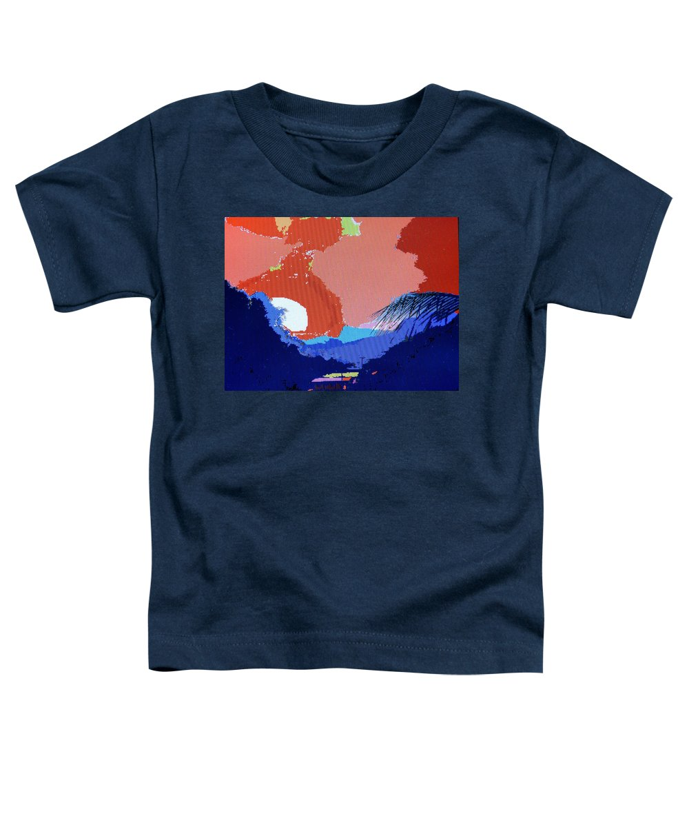 Digital Art Toddler T-Shirt featuring the photograph Dominican Sunset by Ian MacDonald