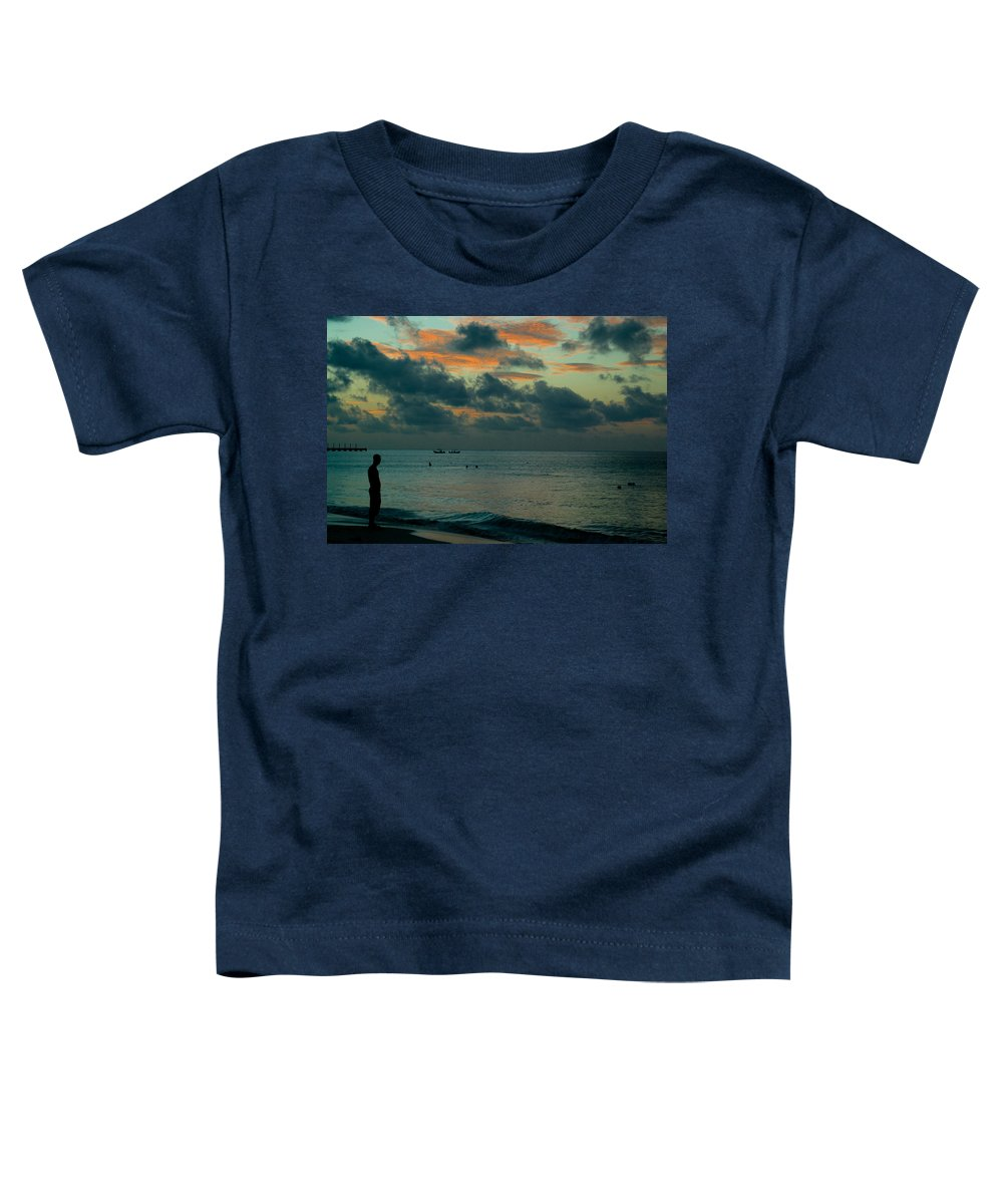 Sea Toddler T-Shirt featuring the photograph Early Morning Sea by Douglas Barnett