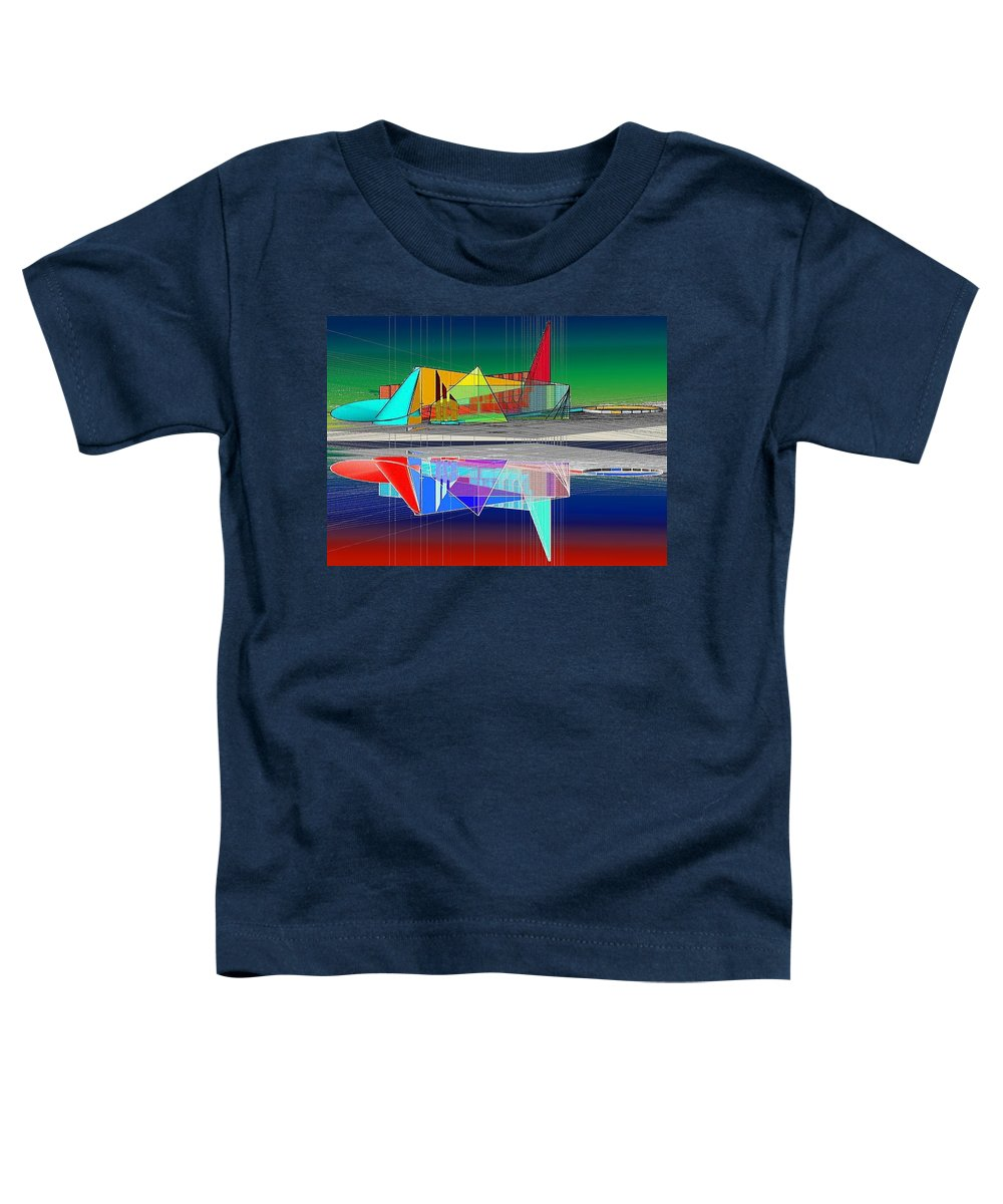 Cathedral Toddler T-Shirt featuring the digital art Ethereal Reflections by Don Quackenbush