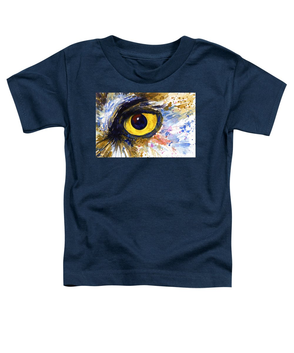 Owls Toddler T-Shirt featuring the painting Eyes Of Owl's No.6 by John D Benson