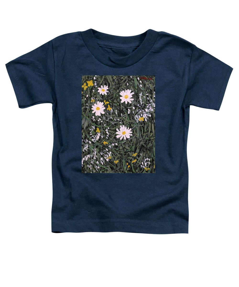 Daisies Toddler T-Shirt featuring the painting Field Daisies by Ian MacDonald