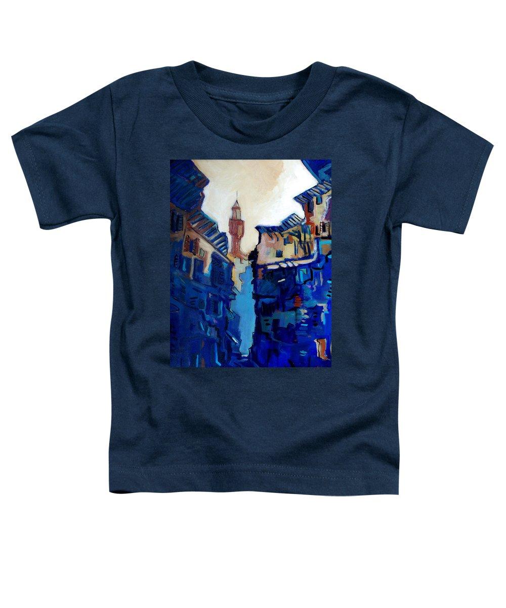 Florence Toddler T-Shirt featuring the painting Firenze Street Study by Kurt Hausmann
