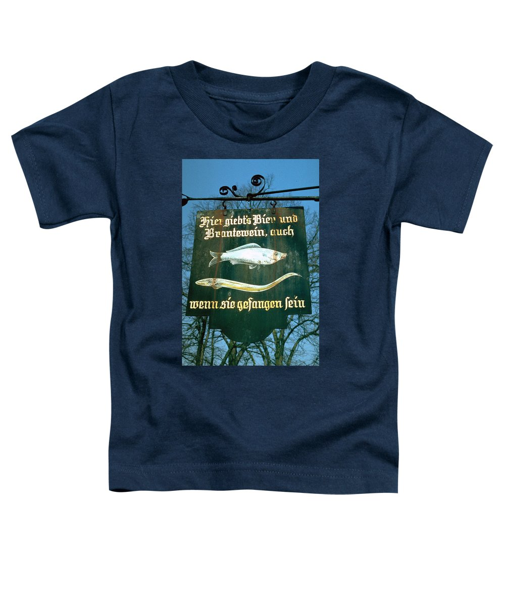 Store Sign Toddler T-Shirt featuring the photograph Fish by Flavia Westerwelle