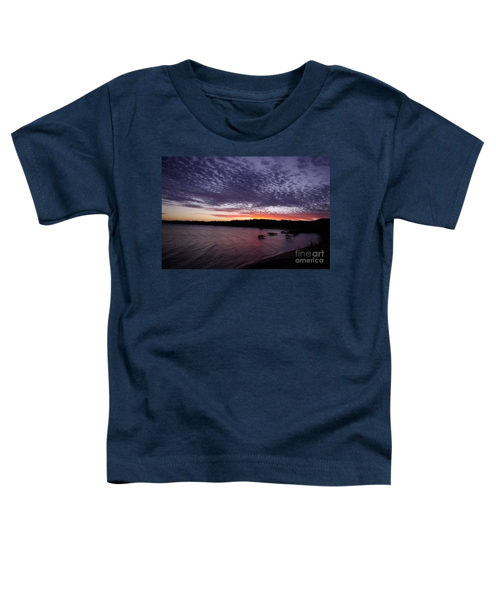 Landscape Toddler T-Shirt featuring the photograph Four Elements Sunset Sequence 7 Coconuts Qld by Kerryn Madsen - Pietsch