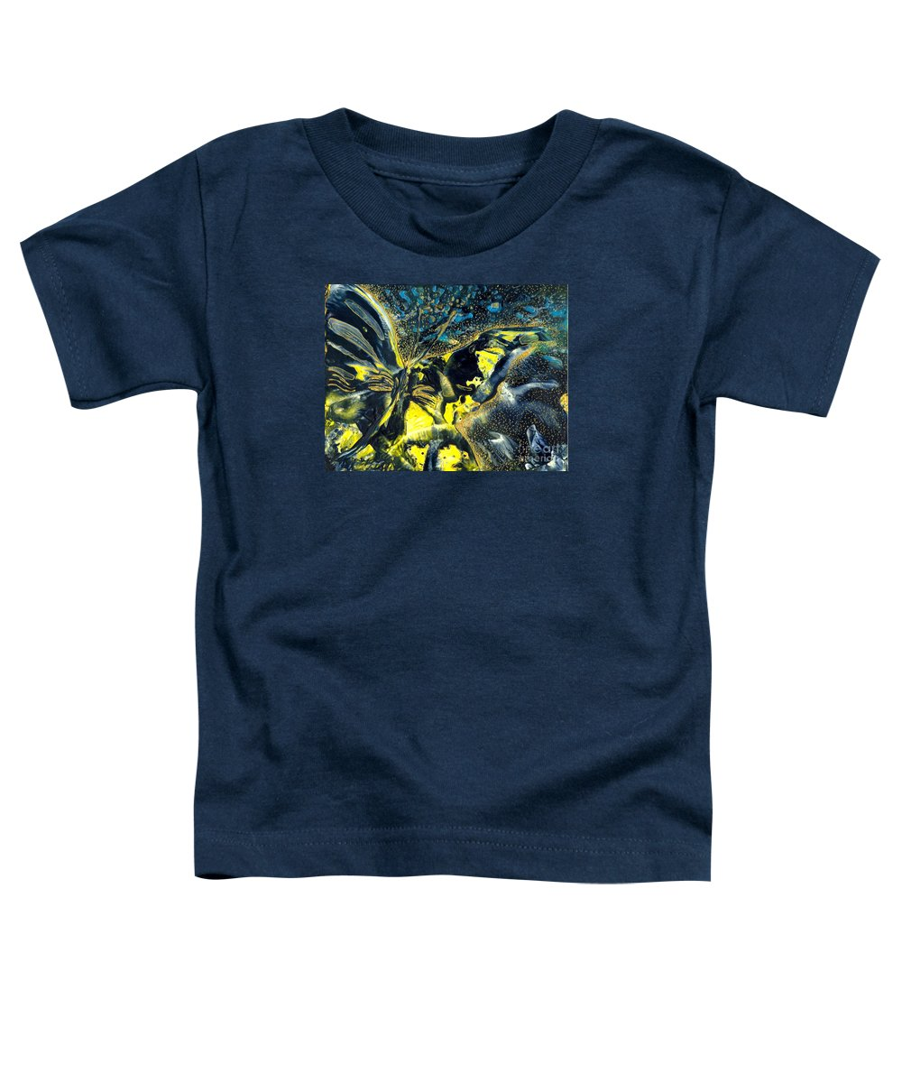 Butterfly Toddler T-Shirt featuring the painting Freedom For Margot by Heather Hennick