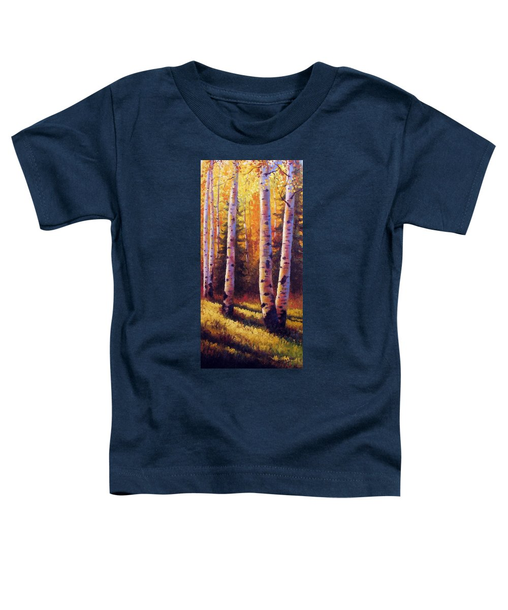 Light Toddler T-Shirt featuring the painting Golden Light by David G Paul