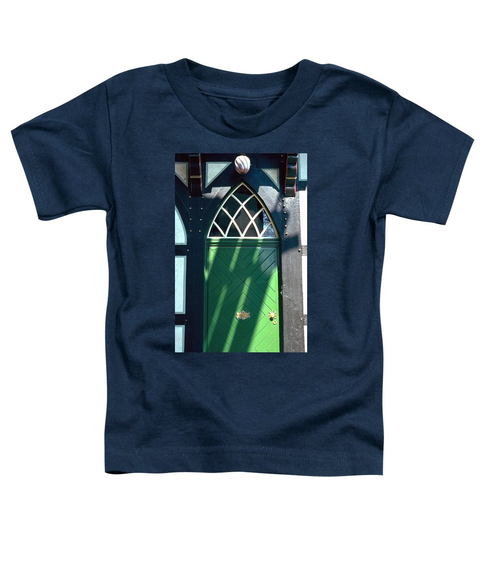 Green Toddler T-Shirt featuring the photograph Green Door by Flavia Westerwelle