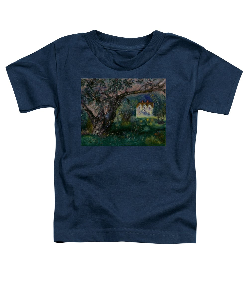 Landscape Toddler T-Shirt featuring the painting Homestead by Stephen King