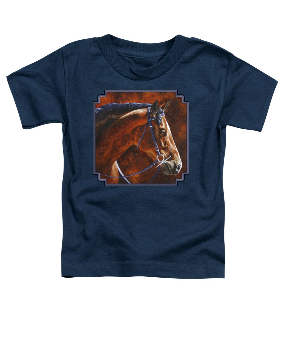 Horse Toddler T-Shirt featuring the painting Horse Painting - Ziggy by Crista Forest