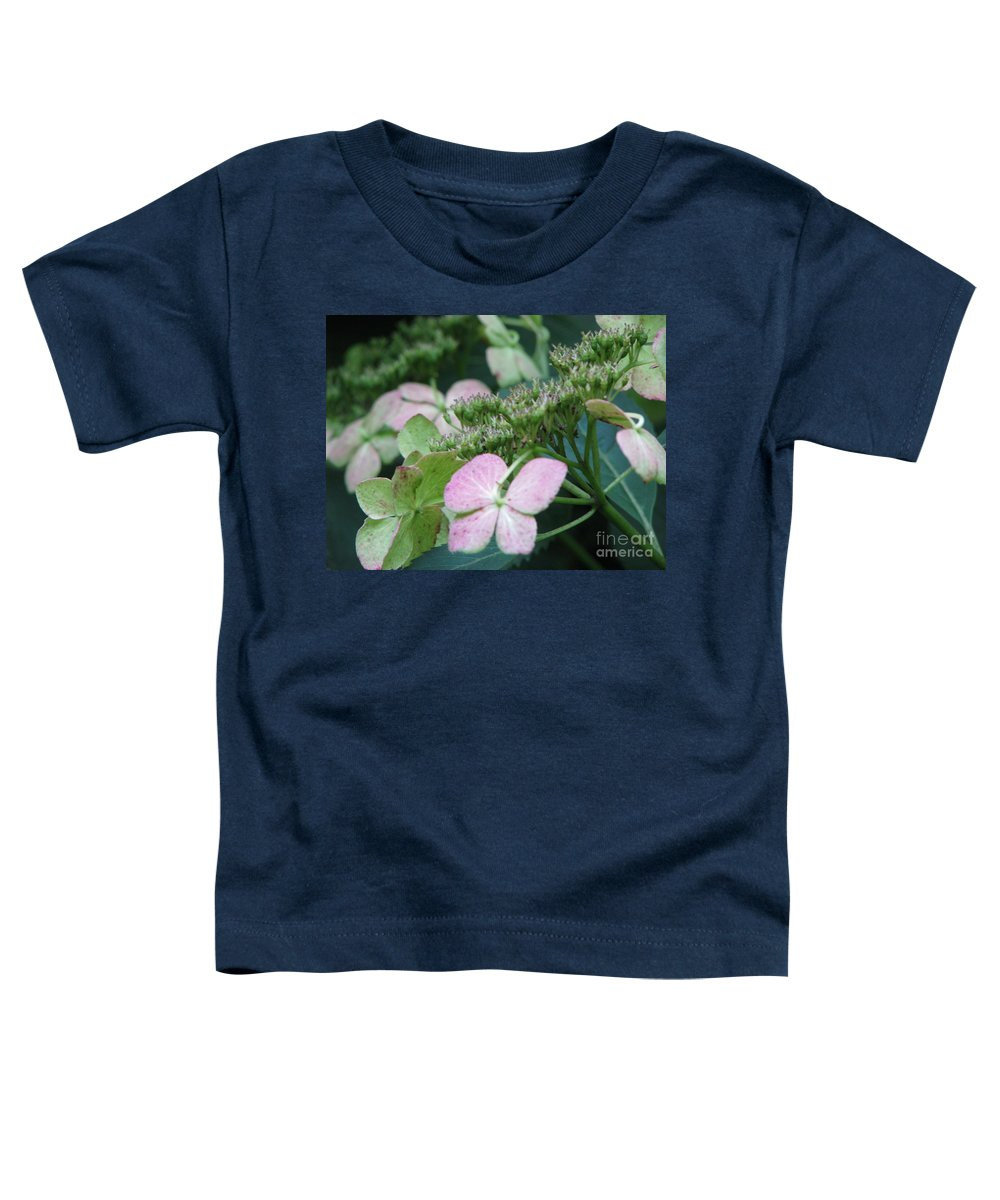Hydrangea Toddler T-Shirt featuring the photograph Hydrangea by Amanda Barcon
