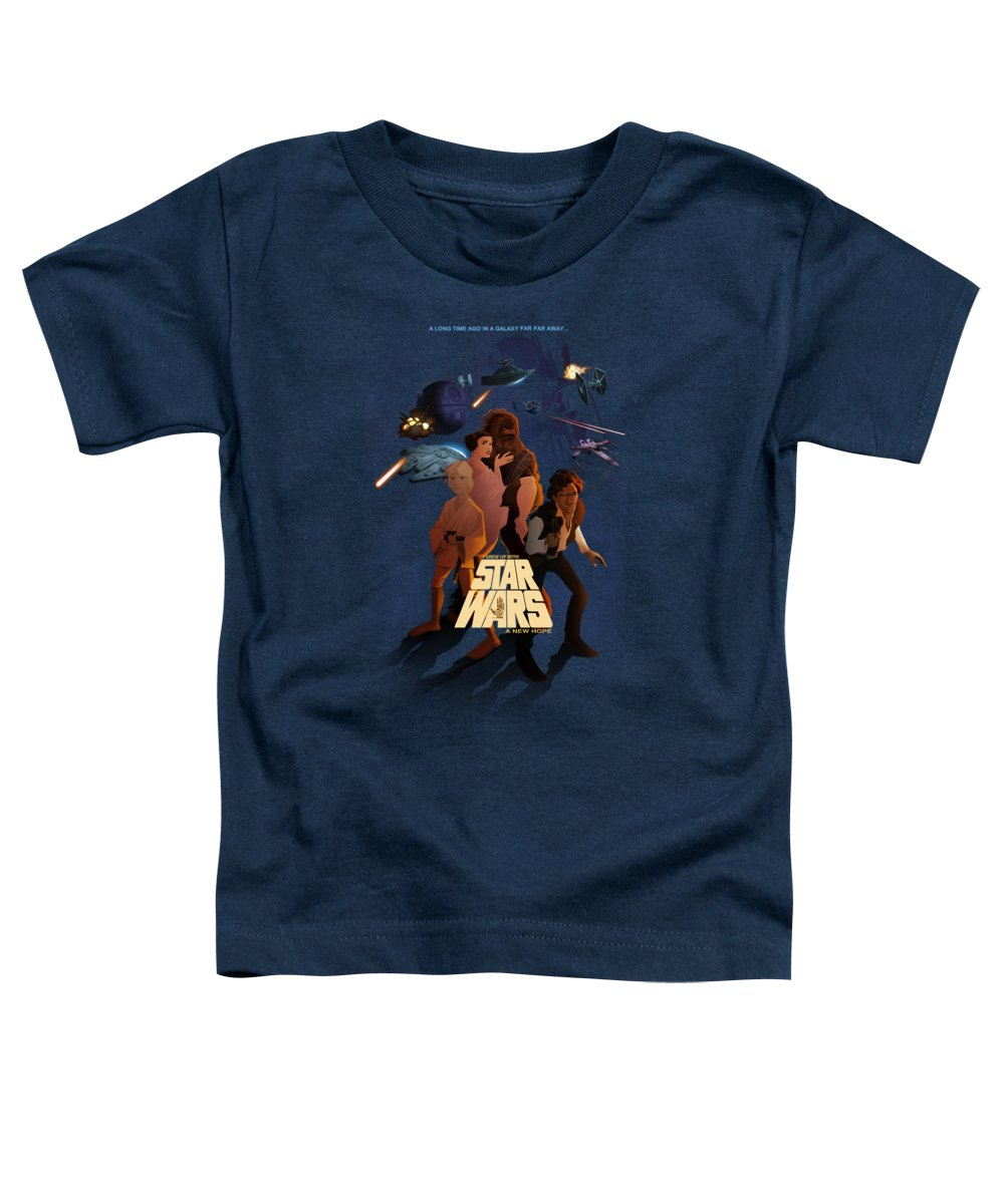 Star Wars Toddler T-Shirt featuring the digital art I Grew Up With Starwars by Nelson Dedos Garcia